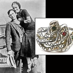 Snake Ring Made in Prison by Clyde Barrow for Bonnie Parker Hits the Auction Block