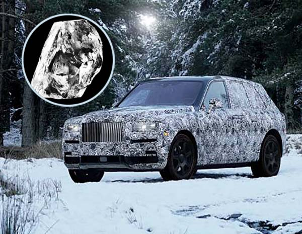 Rolls-Royce Names Its First SUV After the Legendary 3,106.75-Carat Cullinan Diamond