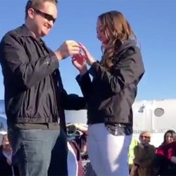 Flight Test Engineer Proposes With Engagement Ring That Reached the Edge of Space